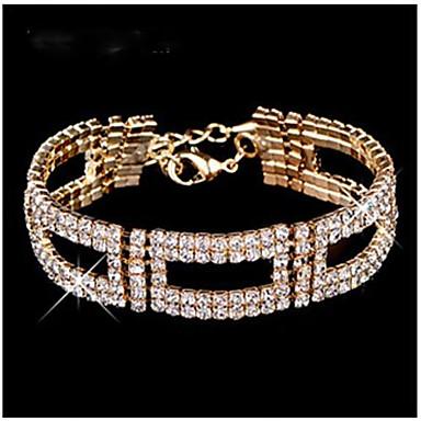 europeu totalmente jóias bracelete liga oblongo (ouro, prata) (1 pc)