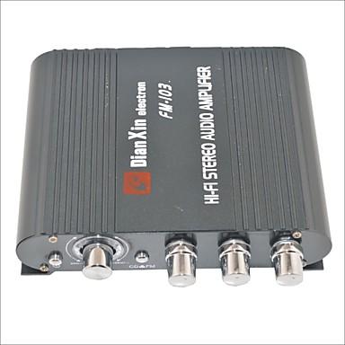fm fonksiyonu siyah ile fm-103 oto stereo ses yükseltici