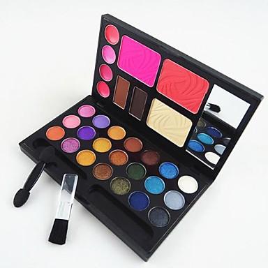 30 Renk Göz Farları Pudralar Kızarmak Kuru / Mat / Pırıl Pırıl Yüz Makyaj Kozmetik