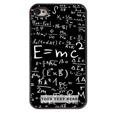 gepersonaliseerde telefoon case - formule ontwerp metalen behuizing voor de iPhone 4 / 4s