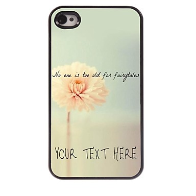 gepersonaliseerde telefoon case - bloem ontwerp metalen behuizing voor de iPhone 4 / 4s
