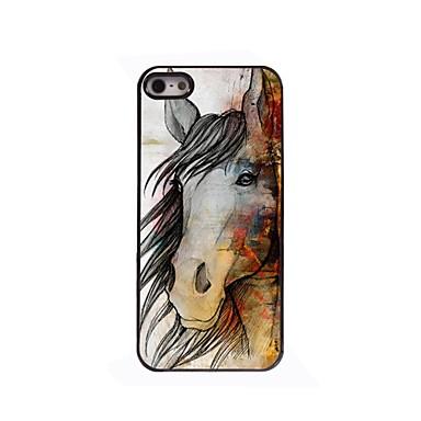 het paard design aluminium harde case voor iPhone 5 / 5s