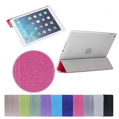Maska Pentru iPad Air 2 Cu Stand Auto Sleep / Wake Origami Carcasă Telefon Culoare solidă PU piele pentru iPad Air 2