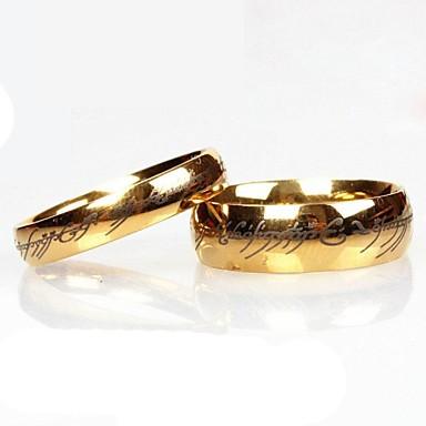 Жен. Кольца для пар - Нержавеющая сталь Мода Золотой Назначение Повседневные