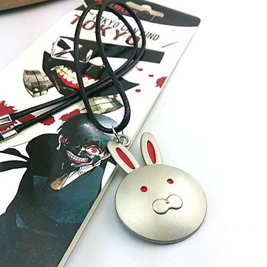 Jóias Inspirado por Tokyo Ghoul Fantasias Anime Acessórios de Cosplay Colares Prateado Liga Masculino