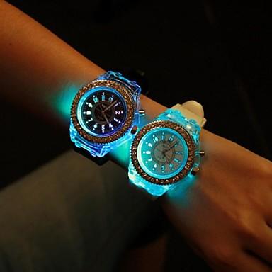 Damen Armbanduhr Silikon Band Glanz / Modisch Schwarz / Weiß / Ein Jahr / SSUO 377