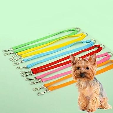 Kedi Köpek Tasma Kayışı Ayarlanabilir / İçeri Çekilebilir Cosplay Naylon Sarı Kırmzı Yeşil Mavi Pembe