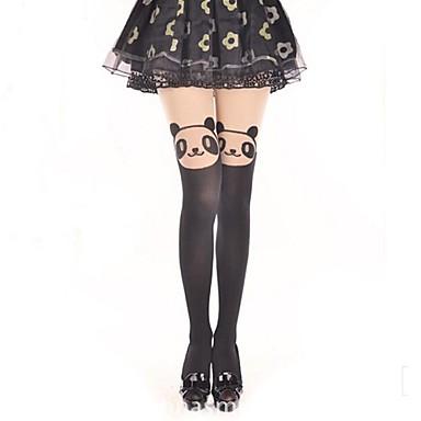 Princesse Femme Sweet Lolita Classic Lolita Transparent Chaussettes / Bas Chaussettes longueur cuisses Imprimé Ours Velours Accessoires Lolita  / Lolita Classique / Traditionnelle