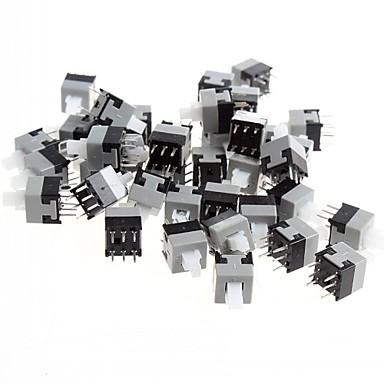 ieftine Componente DIY-8,5 x 8.5mm 6 pini comutator de auto-blocare / întrerupător cu cheie (50 buc)