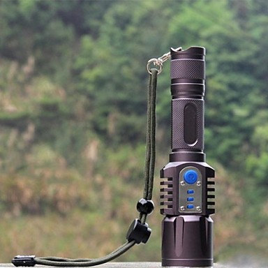 LED Taschenlampen LED 1198 lm 5 Modus inklusive Batterie Stoßfest rutschfester Griff Wiederaufladbar Wasserfest Taktisch Camping /