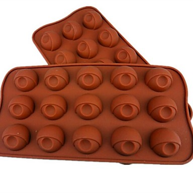 15 οπών καλούπια σοκολάτα σχήμα των ματιών κέικ πάγου ζελέ, σιλικόνη 21.5 × 10.5 × 2 εκατοστά (8.5 × 4.1 × 0.8inch)