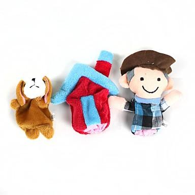 Hunde Fingerpuppen Marionetten Niedlich Neuartige lieblich Zeichentrick Plüsch Baumwolle Mädchen Spielzeuge Geschenk