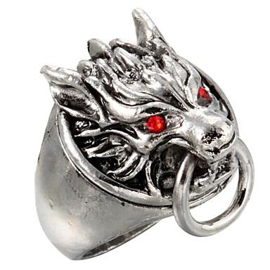 Ringen Dagelijks / Causaal Sieraden Titanium Staal Statementringen8 Zilver