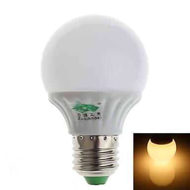 3W E26/E27 LED-bollampen G60 10 SMD 2835 280-300 lm Warm wit Decoratief AC 100-240 V