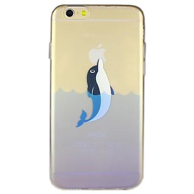 δελφίνια μοτίβο διαφανή TPU μαλακών περιπτώσεις για το iphone 6 συν
