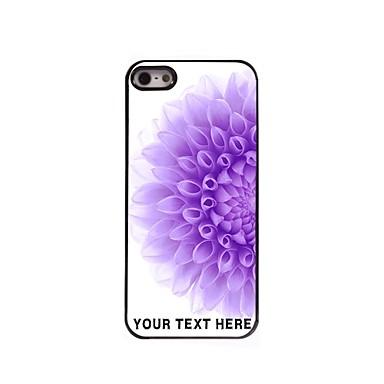 caso de telefone personalizado - metade da flor caso design de metal roxo para iPhone 5 / 5s
