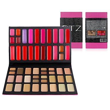 de înaltă calitate 52 de culori Lip Gloss / anticearcan machiaj set paletă