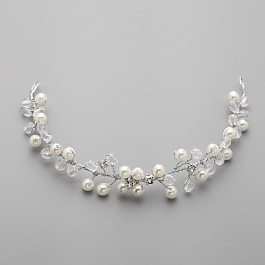 Femei Fata cu Flori Aliaj Imitație de Perle Zirconiu Cubic Diadema-Nuntă Cordeluțe Flori