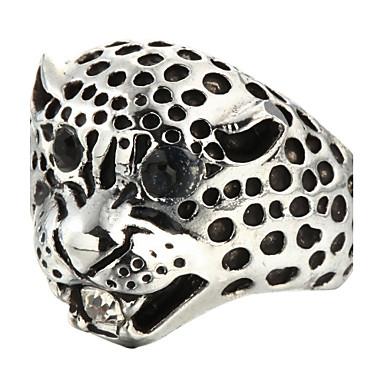 Statement Ring Zilver Titanium Staal Dagelijks Causaal Kostuum juwelen