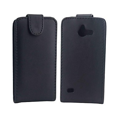 Voor Huawei hoesje Flip hoesje Volledige behuizing hoesje Effen kleur Hard PU-leer Huawei Huawei Y550