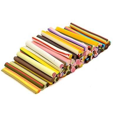 50pcs bolo padrão 3d vara cana-de-rod adesivo mixs cor nail art decoração