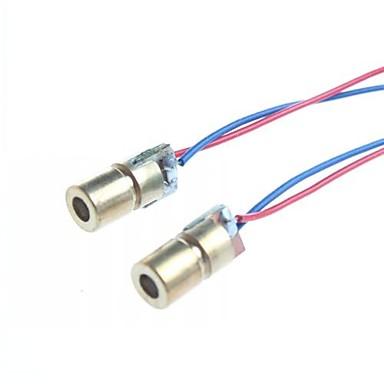 6mm 5V 5mW punct cu laser modul diodă cap WL 650nm roșu (2 buc)
