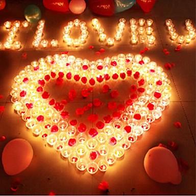 coway 5pcs geleid bule kaars vormige licht partij levering bruiloft decoratie