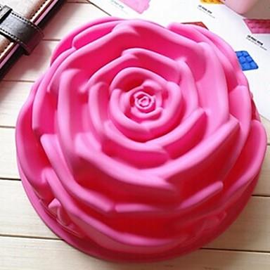 Flor Torta Cupcake Bolo Silicone Amiga-do-Ambiente Faça Você Mesmo Anti-Aderente Molde