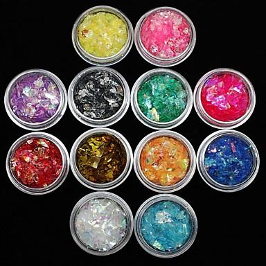 12 pcs Nail Jewelry Tırnak Tasarımı Tasarımı Mevye / Çiçek / Soyut Sevimli Günlük / Karikatür / Punk