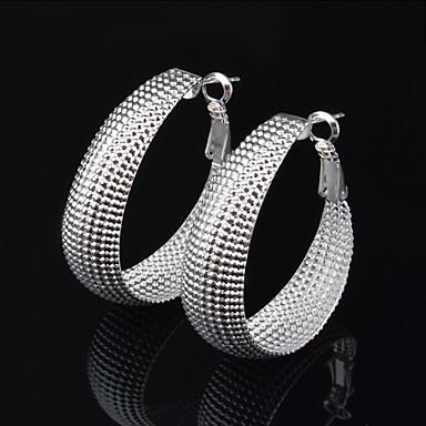 Σκουλαρίκι Κρίκοι Κοσμήματα 2pcs Γάμου / Πάρτι / Καθημερινά / Causal Επάργυρο Γυναικεία