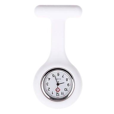 Kadın's Cep kol saati Quartz Gündelik Saatler Silikon Bant Analog Şeker Siyah / Beyaz / Mavi - Kırmzı Pembe Açık Mavi Bir yıl Pil Ömrü
