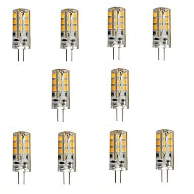 YWXLIGHT® 10 Stück 2W 200 lm G4 LED Doppel-Pin Leuchten 24 Leds SMD 2835 Warmes Weiß DC 12V