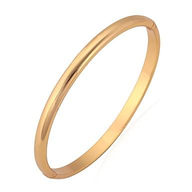 Kadın's Bilezikler / Bileklik - Platin Kaplama, Altın Kaplama Temel, minimalist tarzı Bilezikler Gümüş / Altın Uyumluluk Düğün / Parti / Doğumgünü