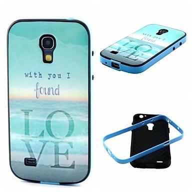 2-in-1 a trouvé l'amour par la TPU motif de la mer couvre pare-chocs arrière avec pc étui antichoc pour les mini i9190 de Samsung