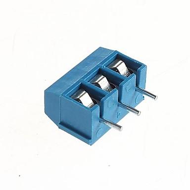 pcb 3-pinli 5.08mm vidalı terminaller - 300v / 16a (10 adet)