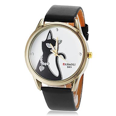 Damen Armbanduhr Armbanduhren für den Alltag PU Band Charme / Freizeit Schwarz / Weiß / Rot