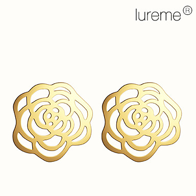 Lureme®Hollow Flower Pattern Alloy Earrings (Assorted Colors)