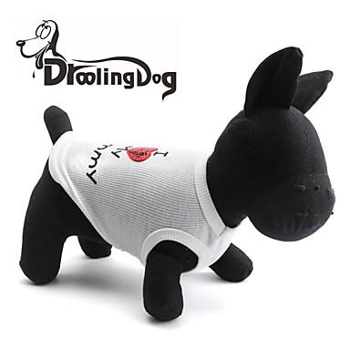 Katze / Hund T-shirt Hundekleidung Herz / Buchstabe & Nummer Weiß / Rosa Terylen Kostüm Für Haustiere