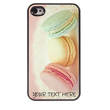 caso de telefone personalizado - pão caso design de metal para iPhone 4 / 4S