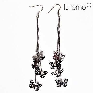 Lureme®Butterfly Pendant Earrings (Assorted Colors)