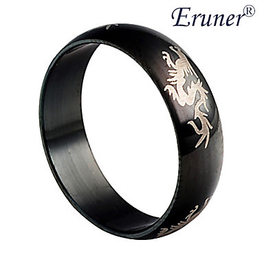 Men's Band Ring Black Alloy Costume Jewelry
