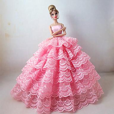86510aebf4de Prinsesse Kjoler Til Barbiedukke polyester Kjole Til Pigens Dukke Legetøj  1147593 2019 – €11.99