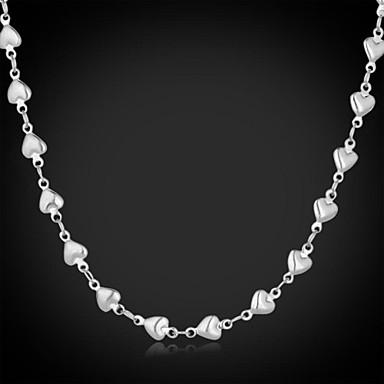 Kadın's Zincir Kolyeler / Vintage Kolye - Paslanmaz Çelik Kalp, Aşk Moda Kolyeler Mücevher Uyumluluk Düğün, Parti, Günlük
