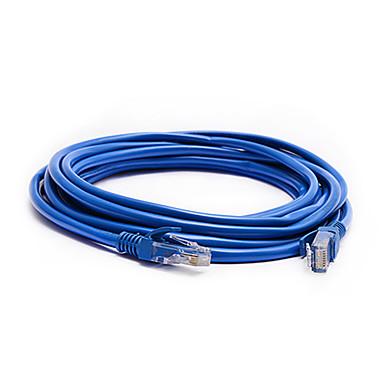 5m 16,4 pés rj45 cat5 macho para macho router computador de alta velocidade cabo de rede de internet banda larga