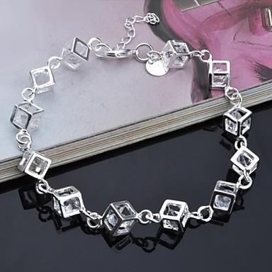 Γυναικεία Βραχιόλι αστραγάλου Cubic Zirconia Μοναδικό Μοντέρνα Στρας Ασημί Ουράνιο Τόξο Κοσμήματα Για 1pc