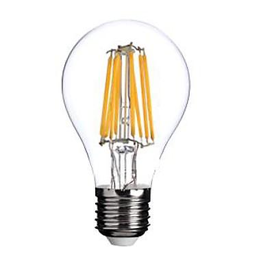 1pc 800lm E26 / E27 LED Glühlampen A60(A19) 8 LED-Perlen COB Warmes Weiß 220-240V