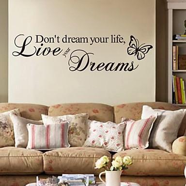 Sözler ve Alıntılar Duvar Etiketler Uçak Duvar Çıkartmaları Dekoratif Duvar Çıkartmaları, PVC Ev dekorasyonu Duvar Çıkartması Duvar