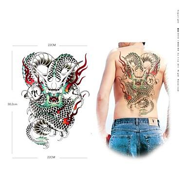 Tatoeagestickers Dieren Series Groot formaat Onderrrug Waterproof Dames Heren Volwassene Tiener Tijdelijke tatoeage Tijdelijke tatoeages