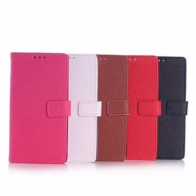 Voor Nokia hoesje Portemonnee / Kaarthouder / met standaard hoesje Volledige behuizing hoesje Effen kleur Hard PU-leer Nokia Other