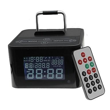 Basistyp drahtloser bluetooth Lautsprecher mit Mikrofon tf fm usb Uhr für iphone + kompatiblen mehr Handy